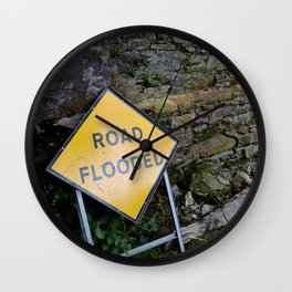 On Account of Rain Wall Clock