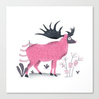 elk Canvas Prints featuring Elk by Rodrigo Fortes