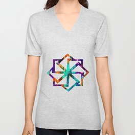 Colored Daisies Unisex V-Neck