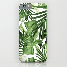 Tropical Jungle Leaves Pattern #12 #tropical #decor #art #society6 iPhone Case