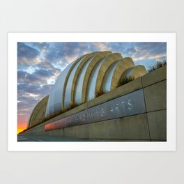 Kansas City Performing Arts Center with Sunrise Perspective Art Print