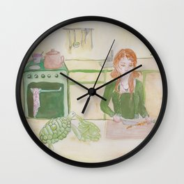 Taurus Witch Wall Clock
