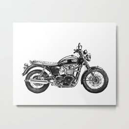 Triumph Motorcycle Metal Print