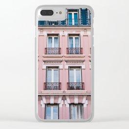 Parisian Buildings Clear iPhone Case