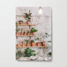 plant shop in barcelona ii Metal Print