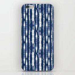 Shibori Stripes Indigo Blue iPhone Skin