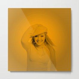Hilary Duff - Celebrity Metal Print