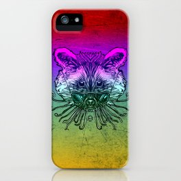 Cool Raccoon Color iPhone Case