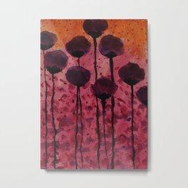 Sunset Floral Metal Print