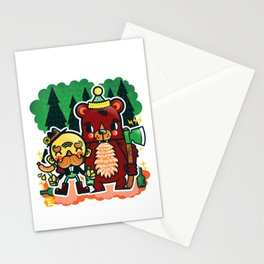 Lumberjack and Friend Stationery Cards