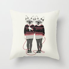 siamese twins Throw Pillow