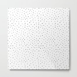 Watercolor Dots in Black and White Metal Print