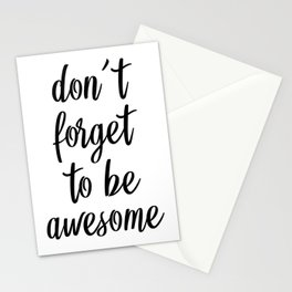 Don't Forget To Be Awesome, Bedroom Decor, Dorm decor, Office Wall Decor Stationery Cards