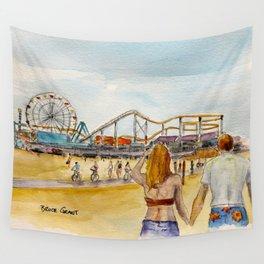 Santa Monica Pier Ferriswheel Wall Tapestry