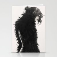 kili Stationery Cards featuring Raven kili by AlyTheKitten