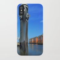 wisconsin iPhone & iPod Cases featuring Battleship Wisconsin by Raymond Earley