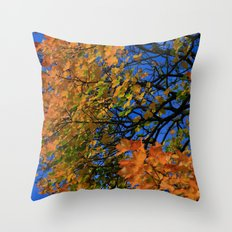 The Burning Tree Throw Pillow