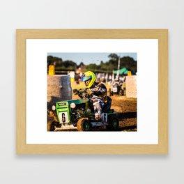 Lawnmower Race Framed Art Print