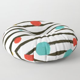 Dots and Stripes Floor Pillow