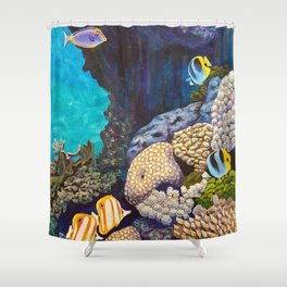 The Gathering - Coral Reef Shower Curtain