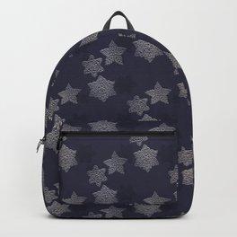 Crochet stars in the night sky Backpack