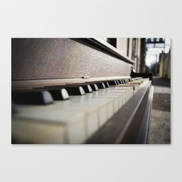 Neglected Piano Canvas Print