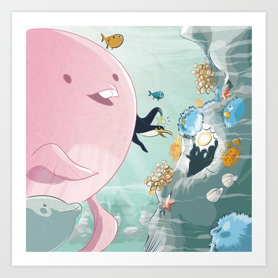 Chloé still underwater Art Print