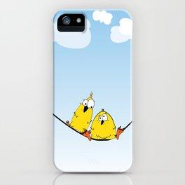 Wire Birds iPhone Case