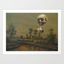The Travelling Ghost Art Print