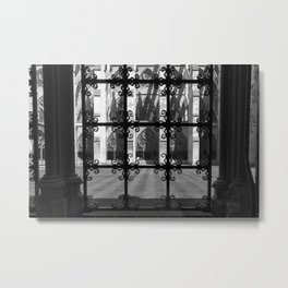 Westminister Abbey Interior Courtyard Metal Print