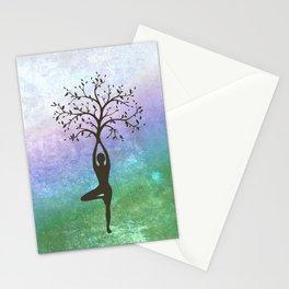 Yoga Tree Pose Stationery Cards