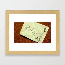 MEMO: Framed Art Print