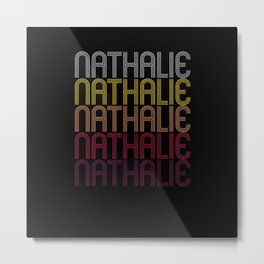 Nathalie Name Gift Personalized First Name Metal Print