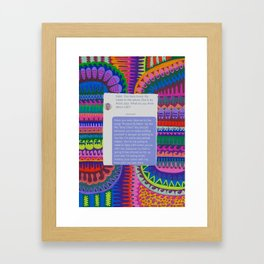 Protect Your Neck- Put Him In His Place Project Framed Art Print