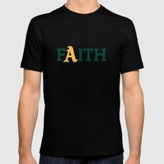Oakland A's Faith X-LARGE Black Mens Fitted Tee