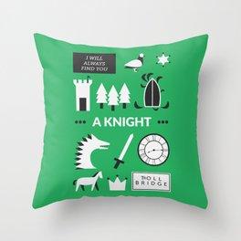 OUAT - A Knight Throw Pillow