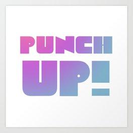 Punch Up! (Resist) Art Print