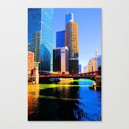 Clark St. Bridge, Chicago (Pop) Canvas Print