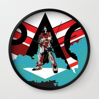 spaceman Wall Clocks featuring Spaceman by Robert Cooper