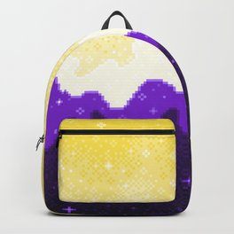 Nonbinary Pride Flag Galaxy Backpack
