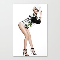 miley Canvas Prints featuring Miley by eriicms