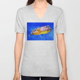 Magic Puffer - Fish Art By Sharon Cummings Unisex V-Neck