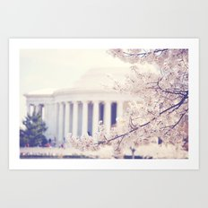 Cherry Blossoms at the Jefferson Memorial Washington DC Art Print