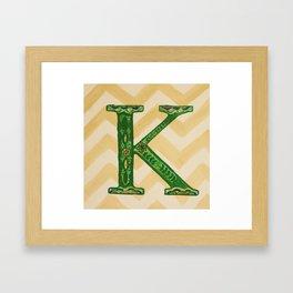chevron k Framed Art Print