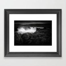 Godafoss Waterfall Framed Art Print