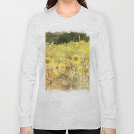Field of Sunflowers Long Sleeve T-shirt