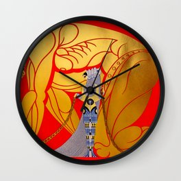 "Art Deco Design ""Sampson & Delilah"" by Erté Wall Clock"