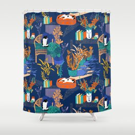 Cats, Glads & Shads Shower Curtain