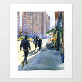 Walking in Chelsea Art Print