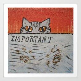Pawprints Art Print
